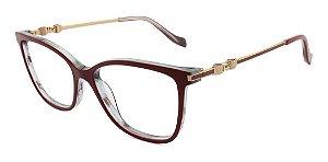 Óculos Armação Ana Hickmann Ah6343 H03 Vermelho
