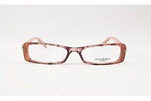 Óculos Armação Ana Hickmann Ah6229 C02 Marrom  Rose Feminino