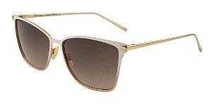 Óculos De Sol Ana Hickmann Ah3145 04a Branco  Dourado