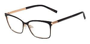Óculos Armação Ana Hickmann Ah1329 09a Preto Metal Haste Du