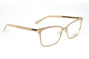 Óculos Armação Ana Hickmann Ah1329 04b Metal Nude  Feminino