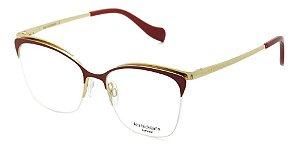 Óculos Armação Ana Hickmann Ah1354 07a  Vermelho Feminino