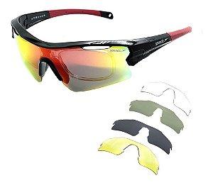 Óculos De Sol Speedo Pro 3 A01 Ciclismo Preto Polarizad