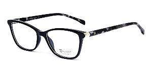 Óculos De Armação Bulget Bg4094 A01 Preto  Cinza Mesclado