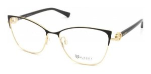 Óculos Armação Bulget Bg1658 09a Metal Preto Feminino  Gold