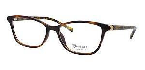 Óculos Armação Bulget Bg4094 G21 Marrom Mesclado Feminino