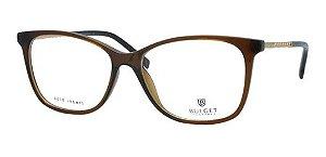 Óculos De Grau Bulget Bg6328i T03 Marrom Dourado