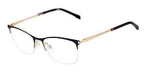 Óculos De Grau Bulget Bg1600 06a Azul / Dourado