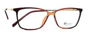 Óculos De Grau Bulget Bg4106 C06 Bordo Marrom Dourado