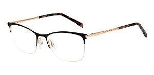 Óculos De Grau Bulget Bg1600 09a Preto Fosco Dourado