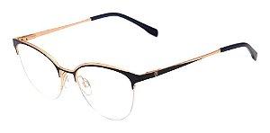 Óculos De Grau Bulget Bg1616 06a Azul Escuro Dourado