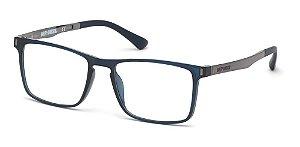 Óculos De Grau Harley Davidson Hd0794 090 Azul Retangular