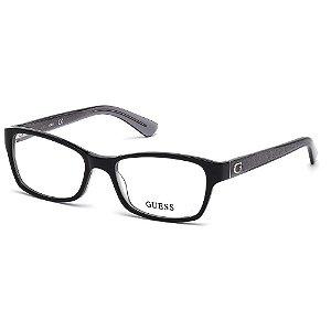 Óculos Armação Guess GU2591 001 Acetato Preto Feminino