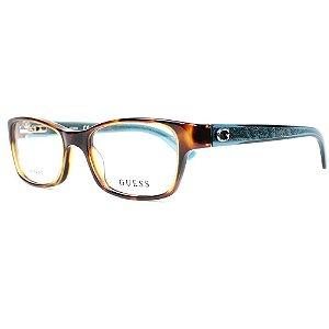 Óculos Armação Guess GU2591 052 Marrom Tartaruga Feminino