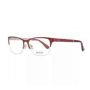 Óculos Armação Guess GU2627 070 Metal Vermelho Feminino