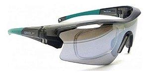 Óculos Solar Speedo Pro3 H01 Fume Ciclismo Espelhado  Prata