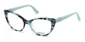 Óculos Armação Guess Gu2708 084 Feminino Mesclado Haste Azul