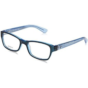 Óculos Armação Guess GU2591 090 Azul  Acetato Feminino