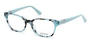 Óculos Armação Guess Gu2709 084 Azul  Turquesa Feminino