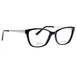 Óculos Armação Gues GU2721 001 Acetato Preto Feminino