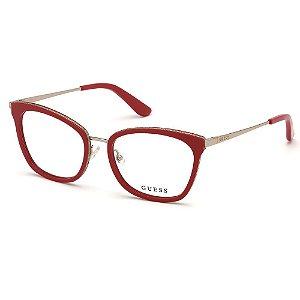 Óculos Armação Guess GU2706 068 Vermelho Acetato Feminino