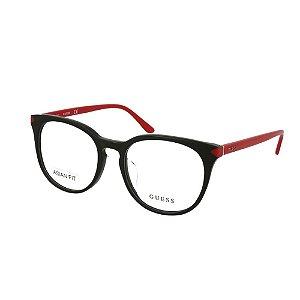 Óculos Armação Guess GU2672-F 005 Preto / Vermelho Feminino