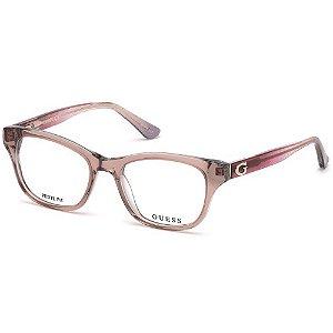 Óculos Armação Guess GU2678 059 Rosa Translucido Feminino