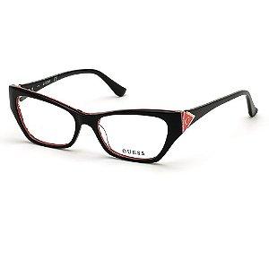 Óculos Armação Guess GU2747 005 Preto Acetato Feminino