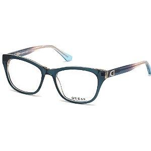 Óculos Armação Guess GU2678 089 Verde Translucido Feminino