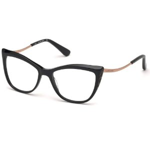Óculos Armação Guess Marciano GM0347 001 Preto  Feminino