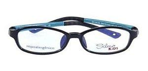 Óculos Armação Silmo Kids Sk18105 Blk/green Meninos