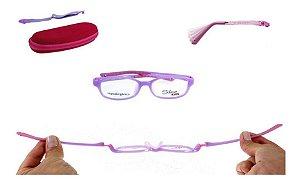 Óculos Armação Silmo Kids Sk18105 Purple Meninas