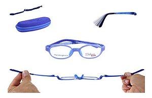 Óculos Armação Silmo Kids Sk18101 Blue Meninos