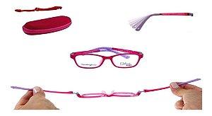 Óculos Armação Silmo Kids Sk18106 Red Meninas