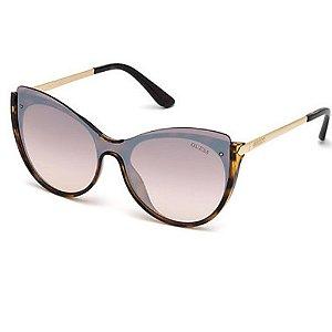 Óculos Solar Guess GU7569 52G Marrom Lente Espelhada Feminin
