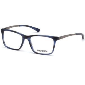 Óculos Armação Harley-Davidson HD0779 064 Azul Masculino
