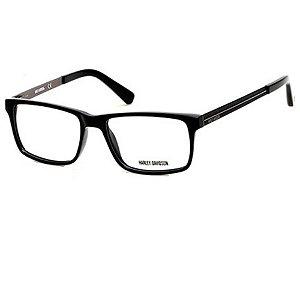 Óculos Armação Harley-Davidson HD0752 001 Preto Masculino