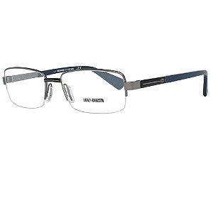 Óculos Armação Harley Davidson HD1012  008 Cinza Masculino