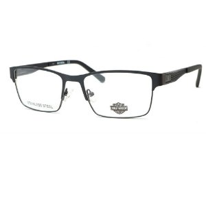Óculos Armação Harley Davidson HD0837002 Preto Masculino