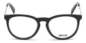 Óculos Armação Just Cavalli Preto Dourado Gold Jc0879v 001