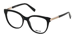 Óculos Armação Just Cavalli Preto Dourado Gold Jc0934/v 001