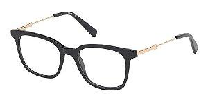 Óculos Armação Just Cavalli Preto Dourado Gold Jc0889/v 001