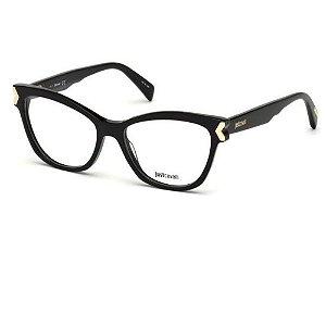 Óculos Armação Just Cavalli JC0807 001 Preto Feminino
