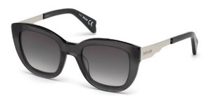 Óculos Armação Just Cavalli Preto Fumê Translucido Jc754s20f