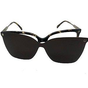Óculos Armação Carmen Vitti CV0149 C2 Clip On Marrom Demi
