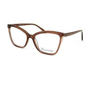 Óculos Armação Carmen Vitti CV0145 C3 Marrom/ Glitter Rosa