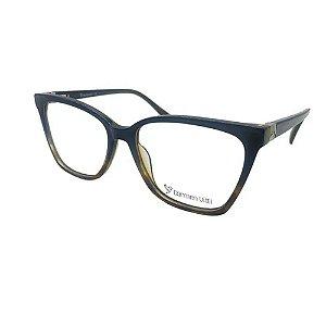Óculos Armação Carmen Vitti CV0151 C3 Azul com Marrom