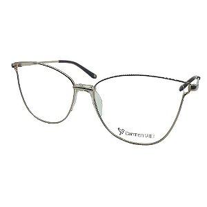 Óculos Armação Carmen Vitti CV0067 C1 Metal Dourado Feminino