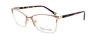Óculos De Grau Carmen Vitti Cv0107 C3 Metal Nude  Feminino