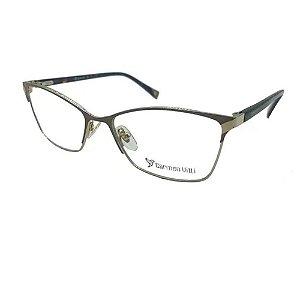 Óculos Armação Carmen Vitti CV0107 C1 Preto Metal Feminino